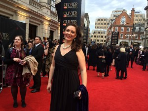 On the red carpet before the Oliviers 2016